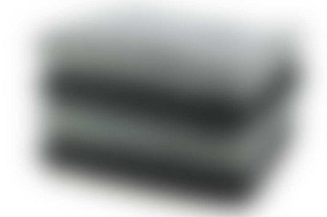 Black and grey towel